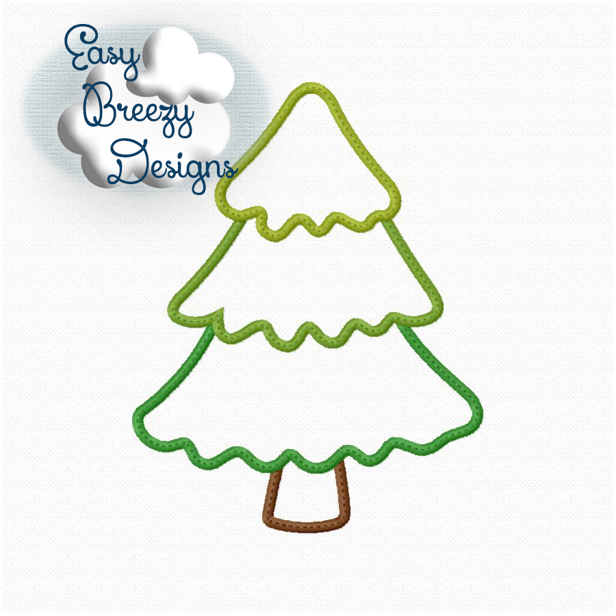 tree applique design three tier tree design camping embroidery design glamping embroidery machine embroidery files digital download - Christmas Tree Designs