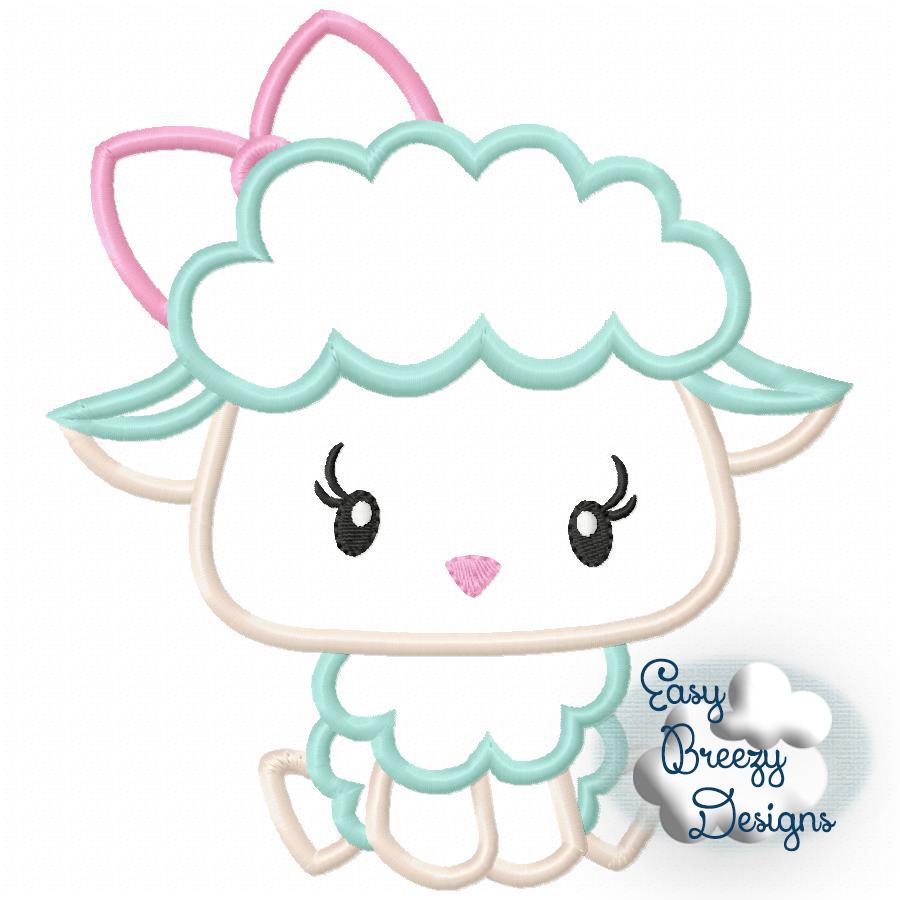 21551d843677 Easy Breezy Designs   Fluffy Lamb Applique